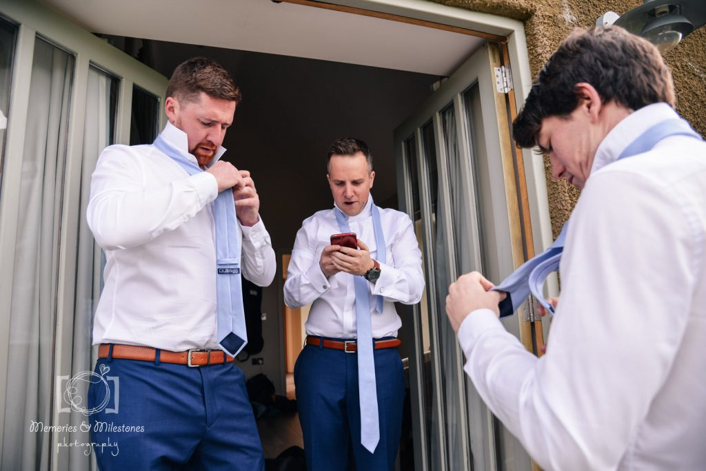groom prep photos