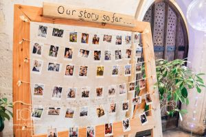 DIY wedding craft ideas photo wall