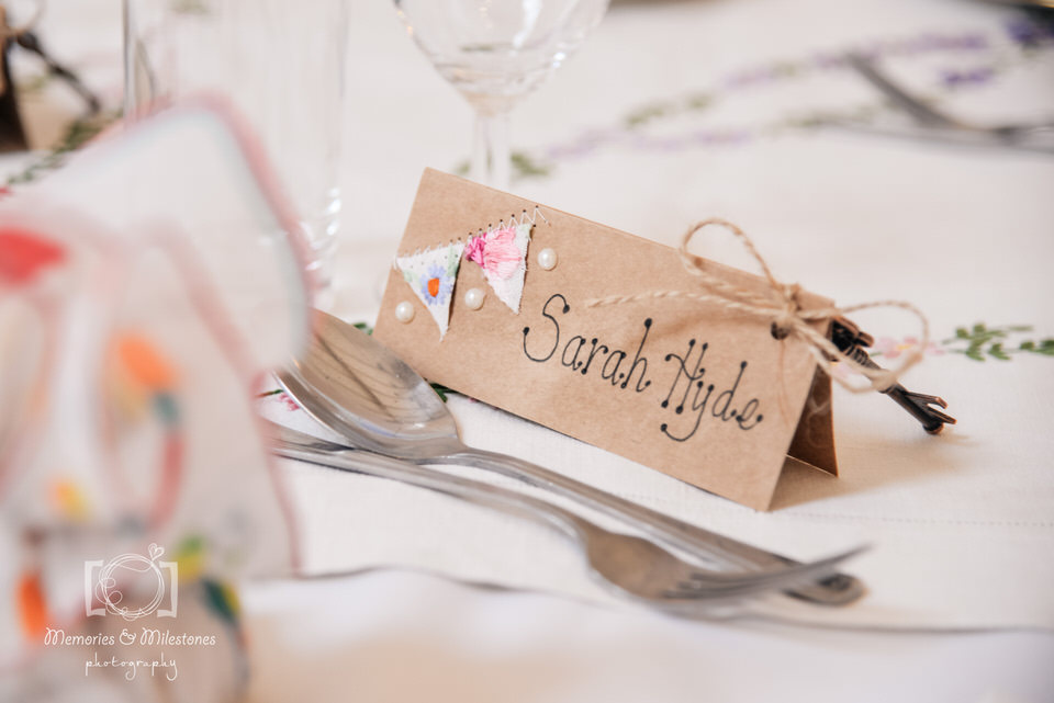 DIY wedding craft ideas place names