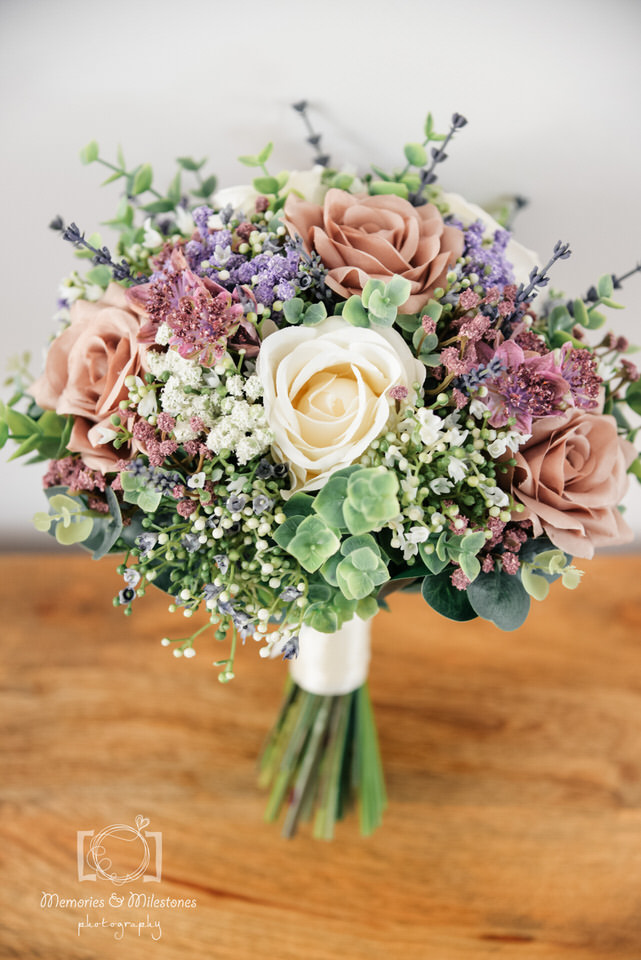 artificial wedding flowers bride bouquet
