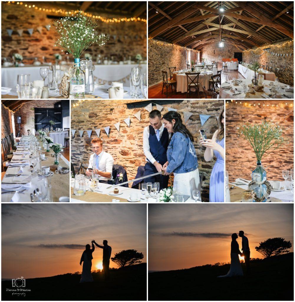 small wedding at new barton barns Devon